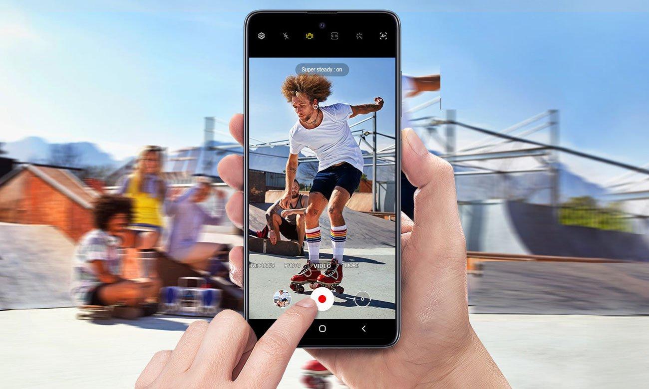 Samsung Galaxy A51 cztery aparaty quad pixel panorama makro dof