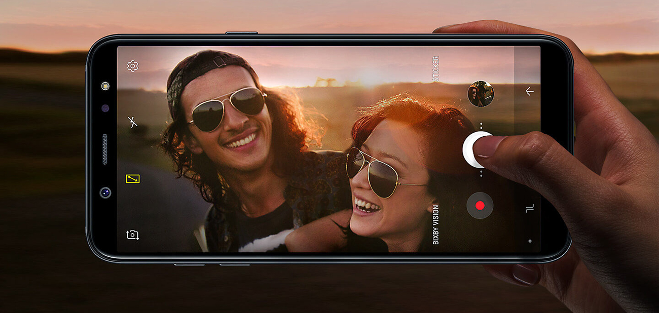 Samsung Galaxy A6 2018 aparat 16 mpix led
