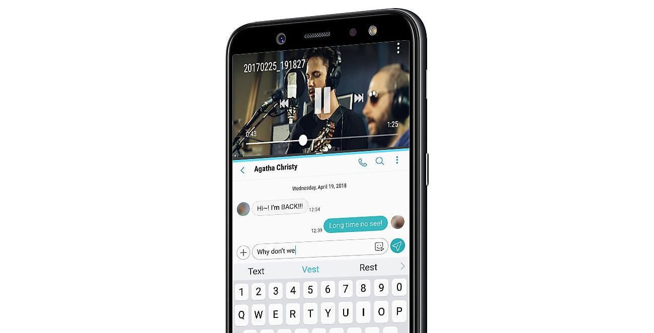 Samsung Galaxy A6 2018 wielozadaniowe działanie