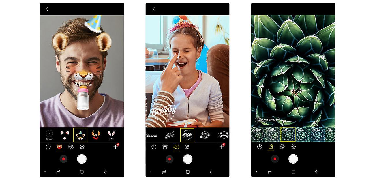 Samsung Galaxy A6 2018 aparat 16 mpix selfie filtry