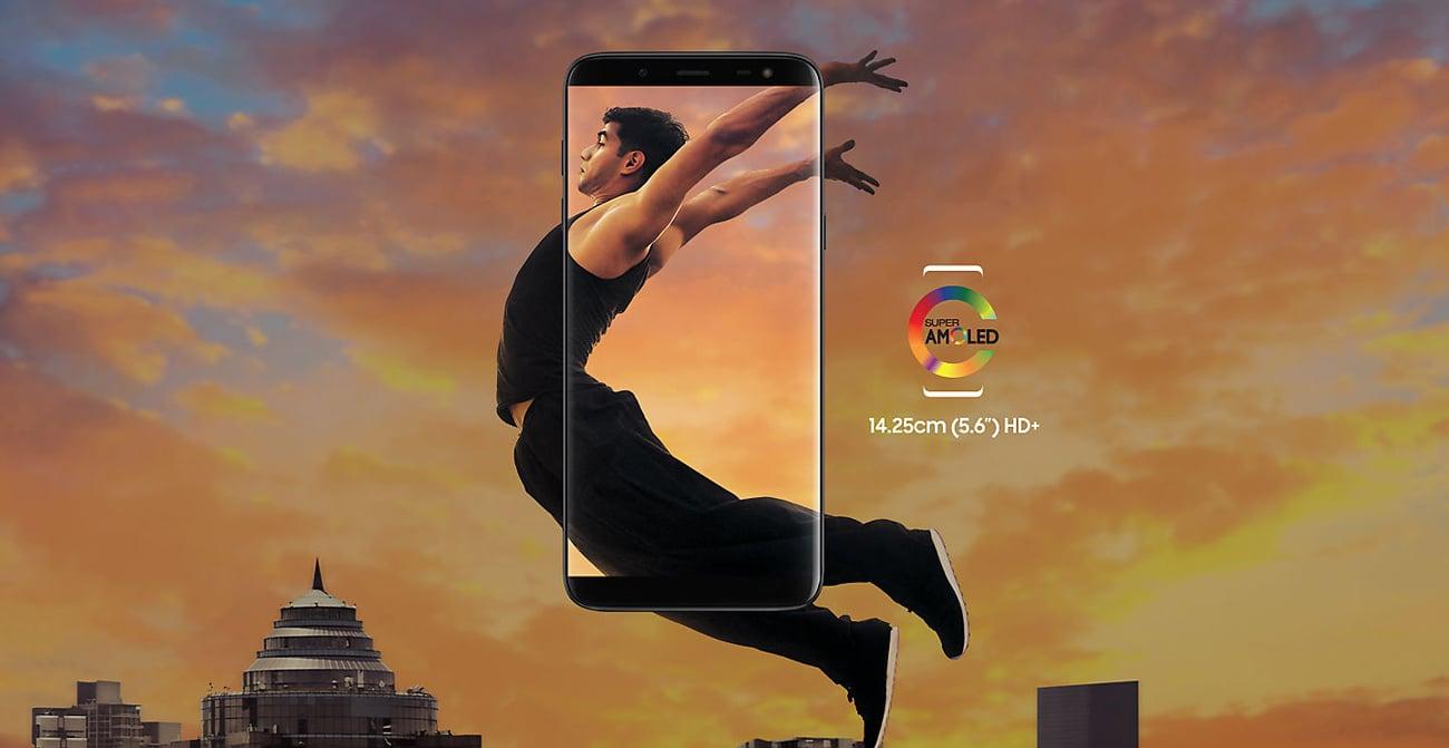 Samsung Galaxy J6 ekran infinity super amoled