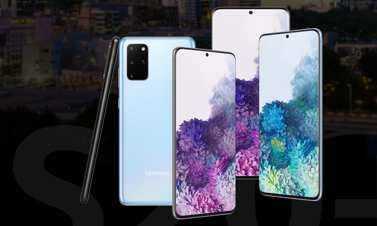Samsung Galaxy S20 Plus elegancka konstrukcja ze szkła i stali