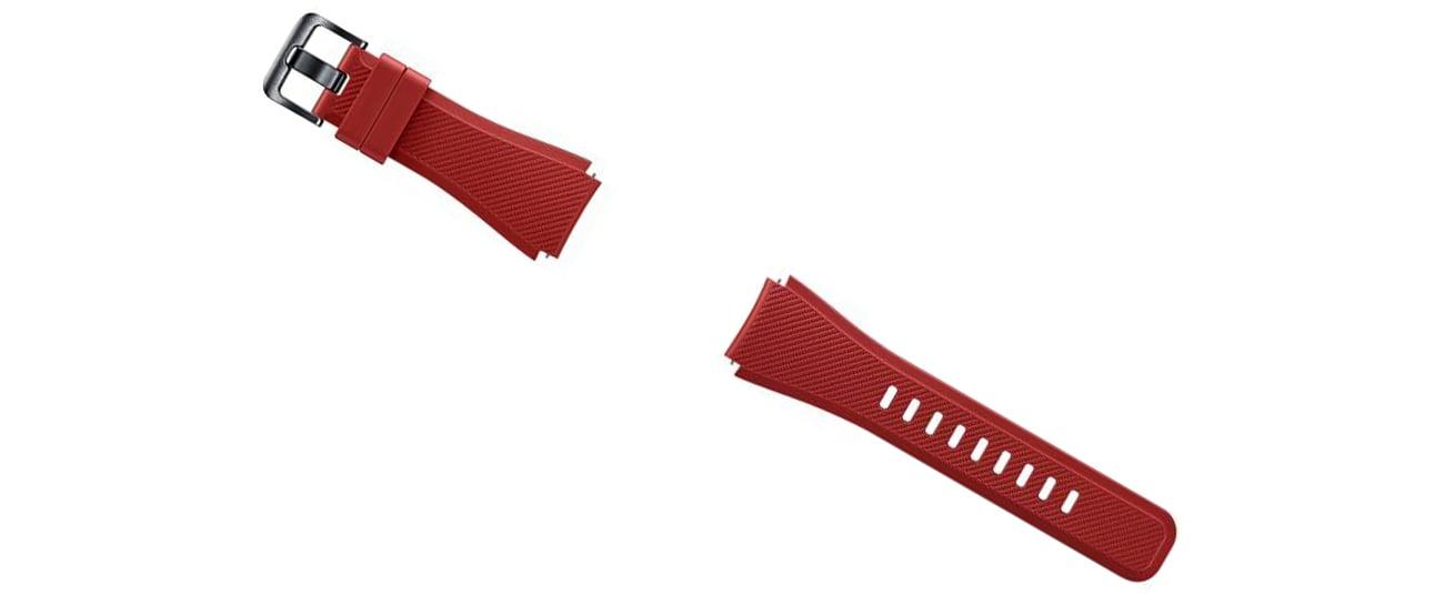 Silikonowy pasek do Galaxy Gear S3 czzerwony ET-YSU76MREGWW