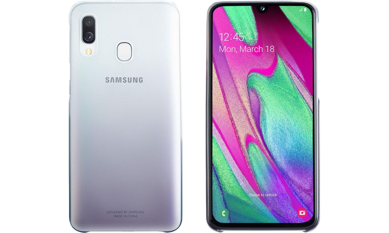 Etui Samsung Gradation cover do Galaxy A40 Czarne EF-AA405CBEGWW