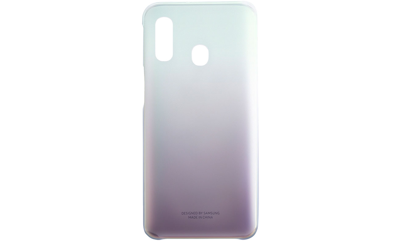 Etui Samsung Gradation cover do Galaxy A40 Czarne Przód i tył