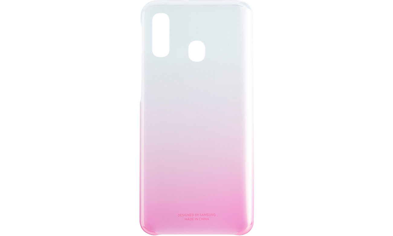 Etui Samsung Gradation cover do Galaxy A40 Różowe Przód i tył