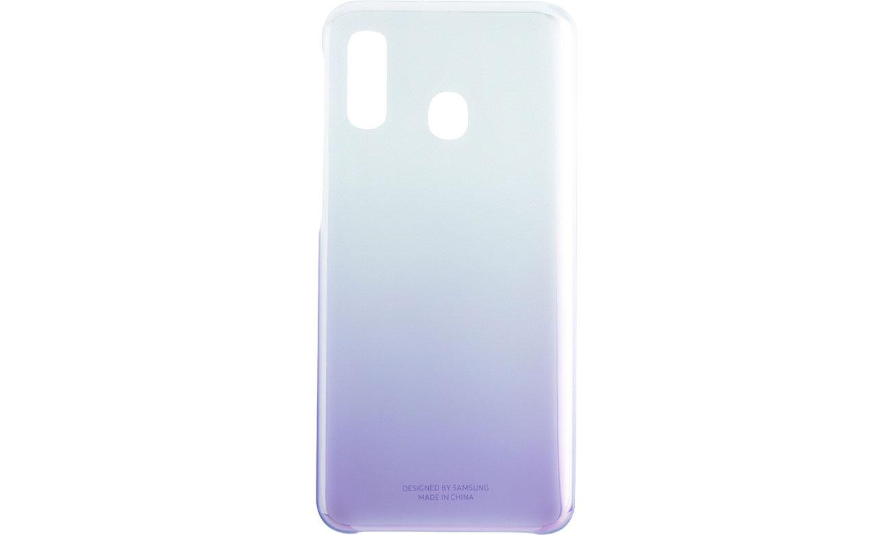 Etui Samsung Gradation cover do Galaxy A40 Fioletowe Przód i tył