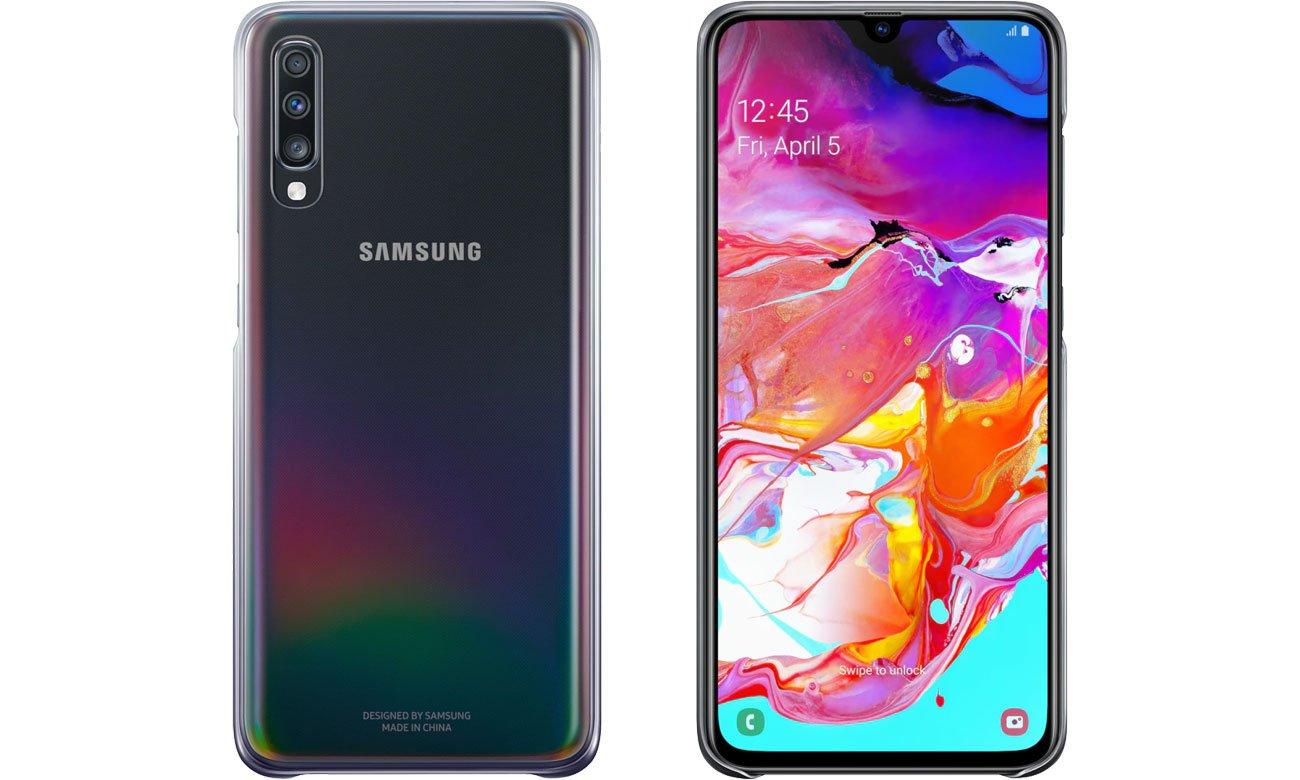 Etui Samsung Gradation cover do Galaxy A70 Fioletowe EF-AA705CVEGWW
