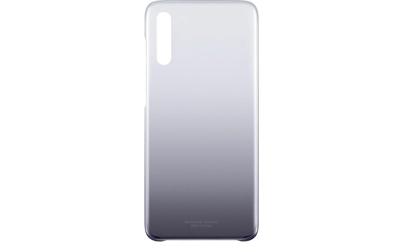 Etui Samsung Gradation cover do Galaxy A70 Fioletowe Przód i tył