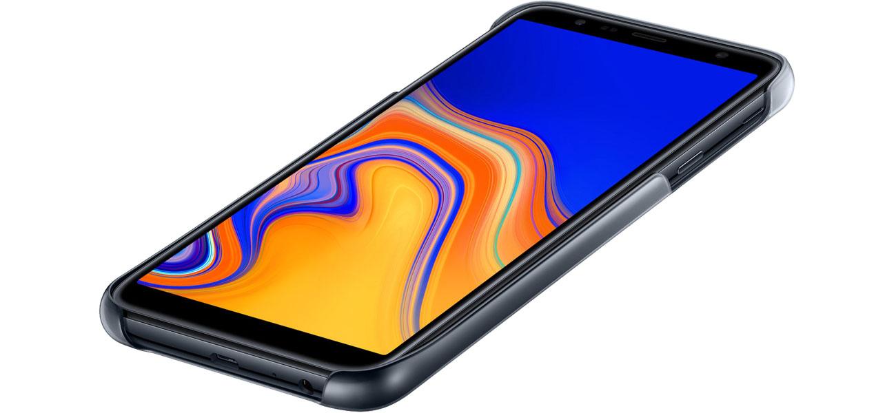 Etui Samsung Gradation cover do Galaxy J4+ Czarne Dopasowanie