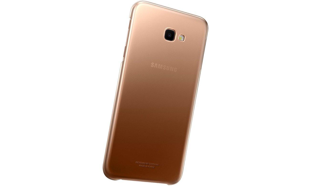 Etui Samsung Gradation cover do Galaxy J4+ złote EF-AJ415CFEGWW