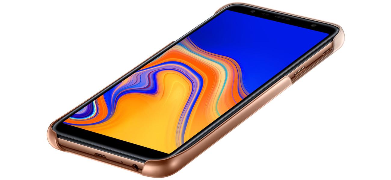 Etui Samsung Gradation cover do Galaxy J4+ złote Dopasowanie