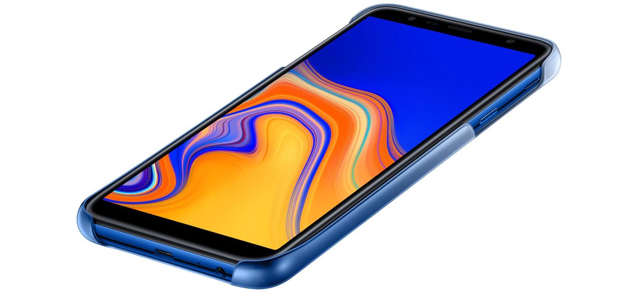 Etui Samsung Gradation cover do Galaxy J4+ niebieskie Dopasowanie