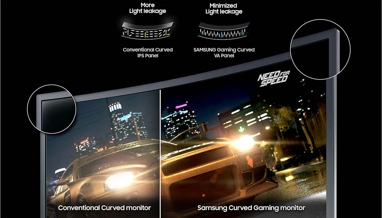 Samsung C27FG73FQUX Curved Kontrast