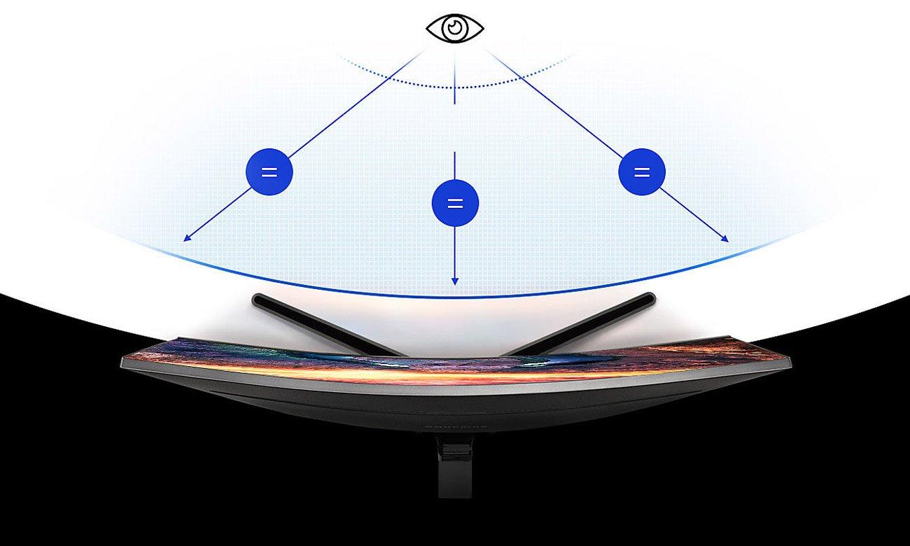 Samsung C27JG50QQUX Curved Komfortowe zakrzywienie