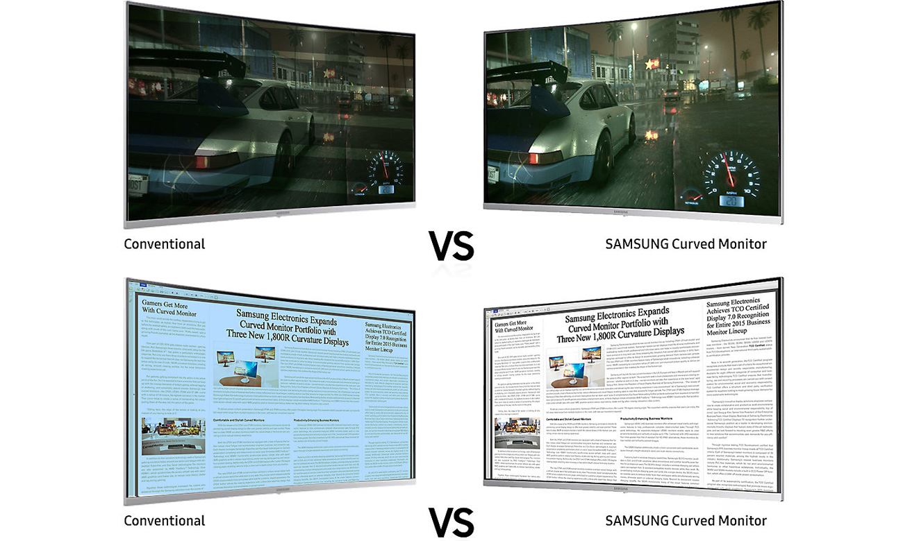 Samsung C32H711QEUX Curved Eye Saver Flicker Free
