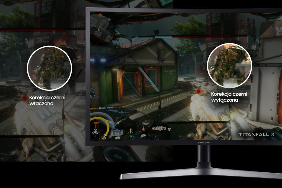 Samsung Detale rozgrywki widoczne w ciemnych scenach. Black Equalizer