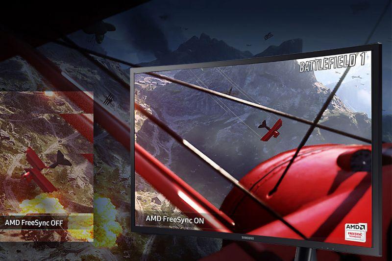 Samsung Doskonale płynny obraz. AMD FreeSync
