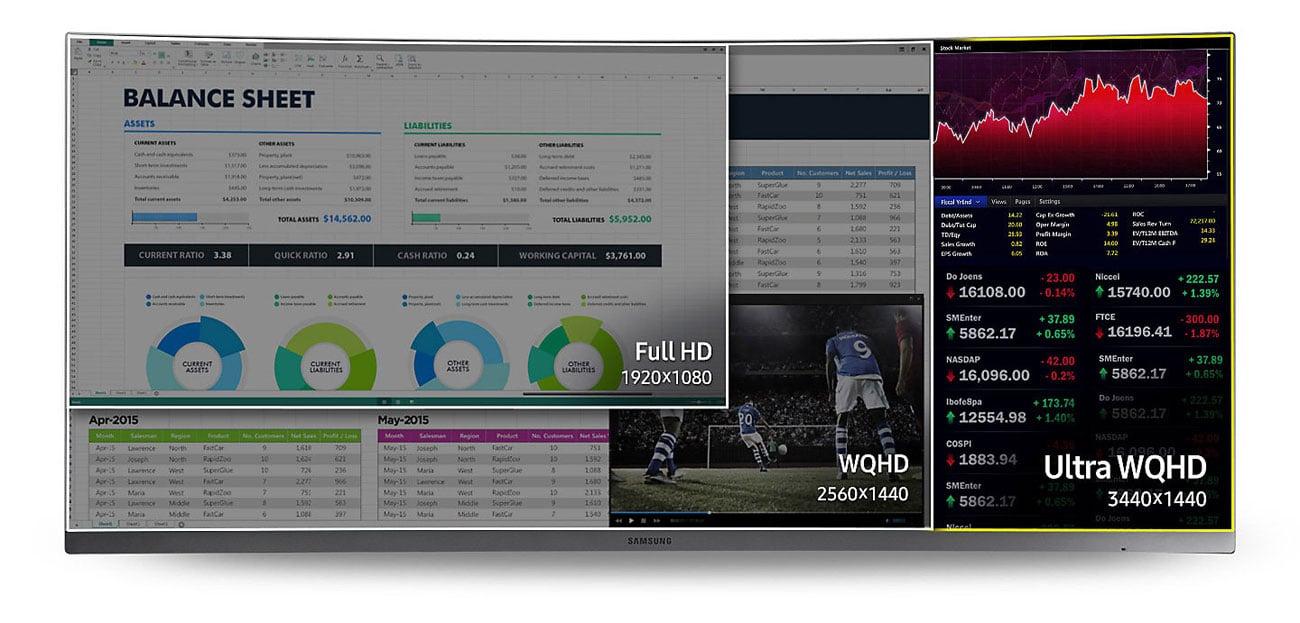 Samsung C34H890WJUX Rozdzielczość Ultra WQHD