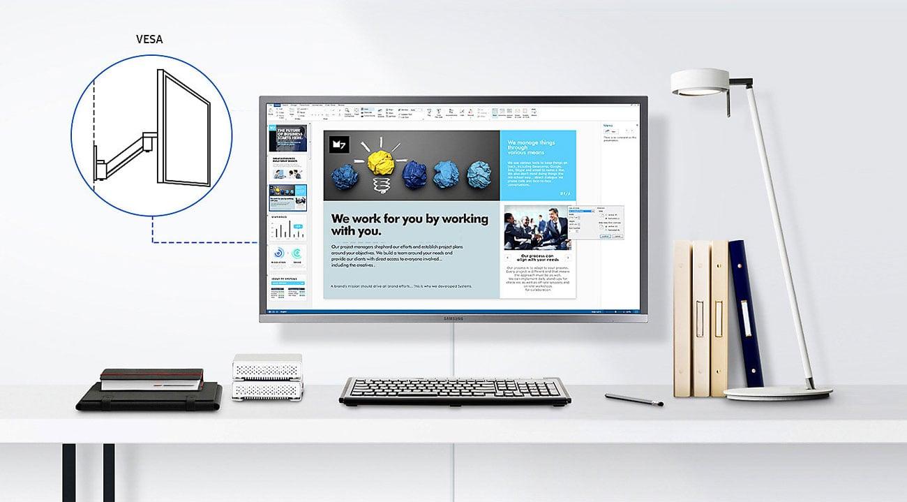 Samsung U32H850UMU Ergonomiczna Konstrukcja
