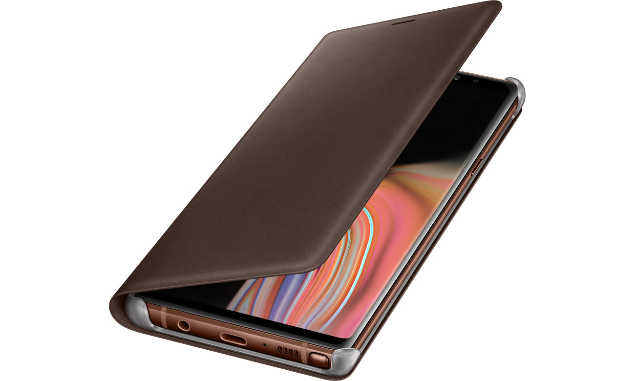 Samsung Leather View Cover do Galaxy Note 9 Brown Brązowe