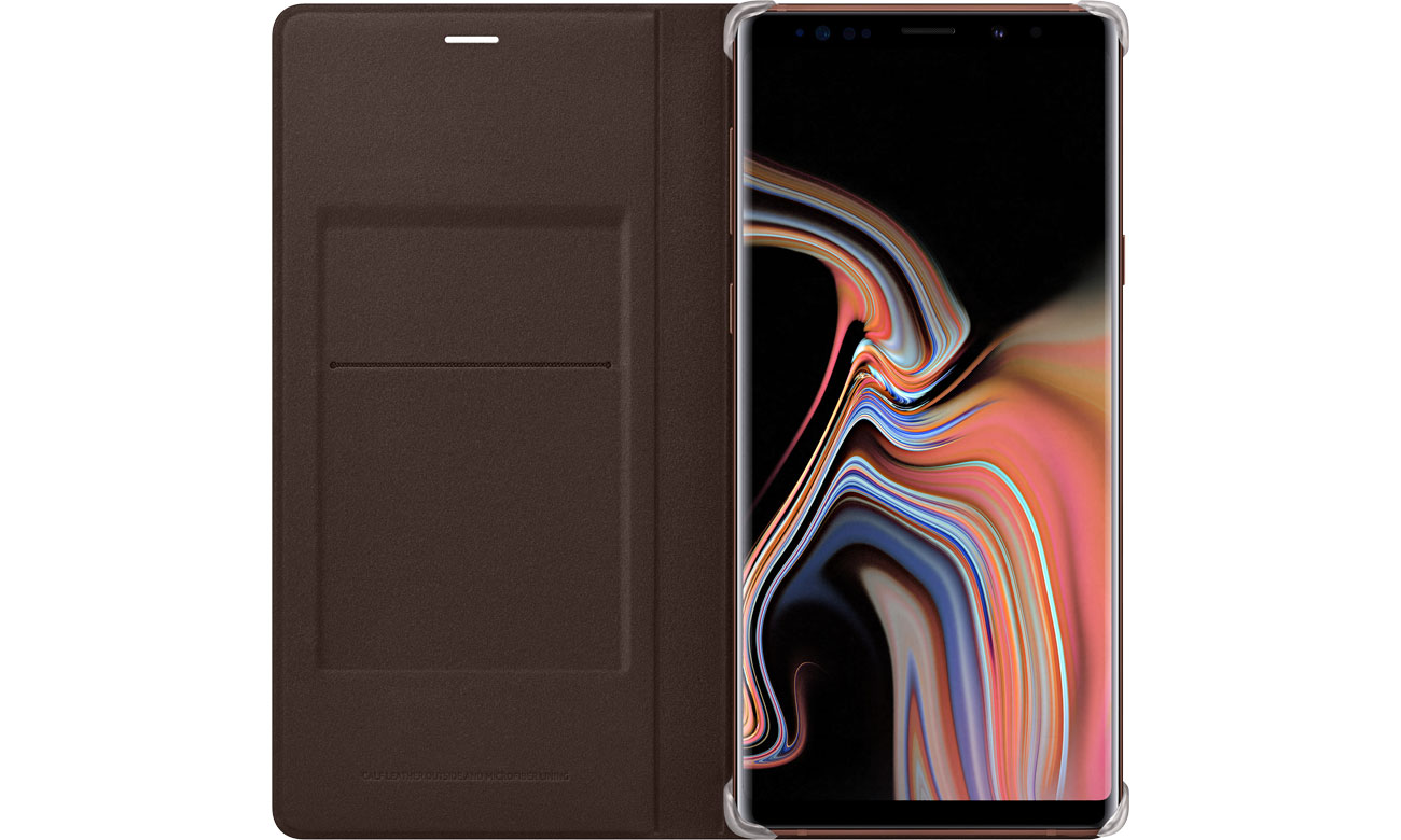 Leather View Cover do Galaxy Note 9 Klapka z kieszonką na dokumenty