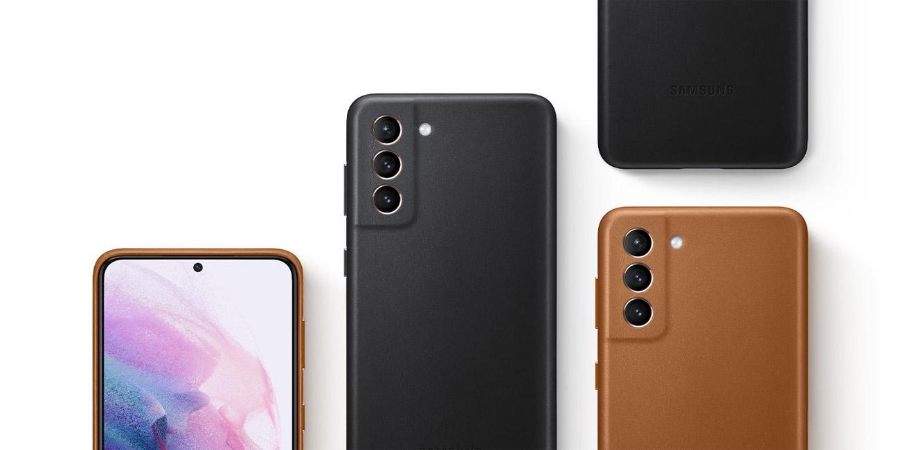 Etui Samsung Leather Cover Black do Galaxy S21+