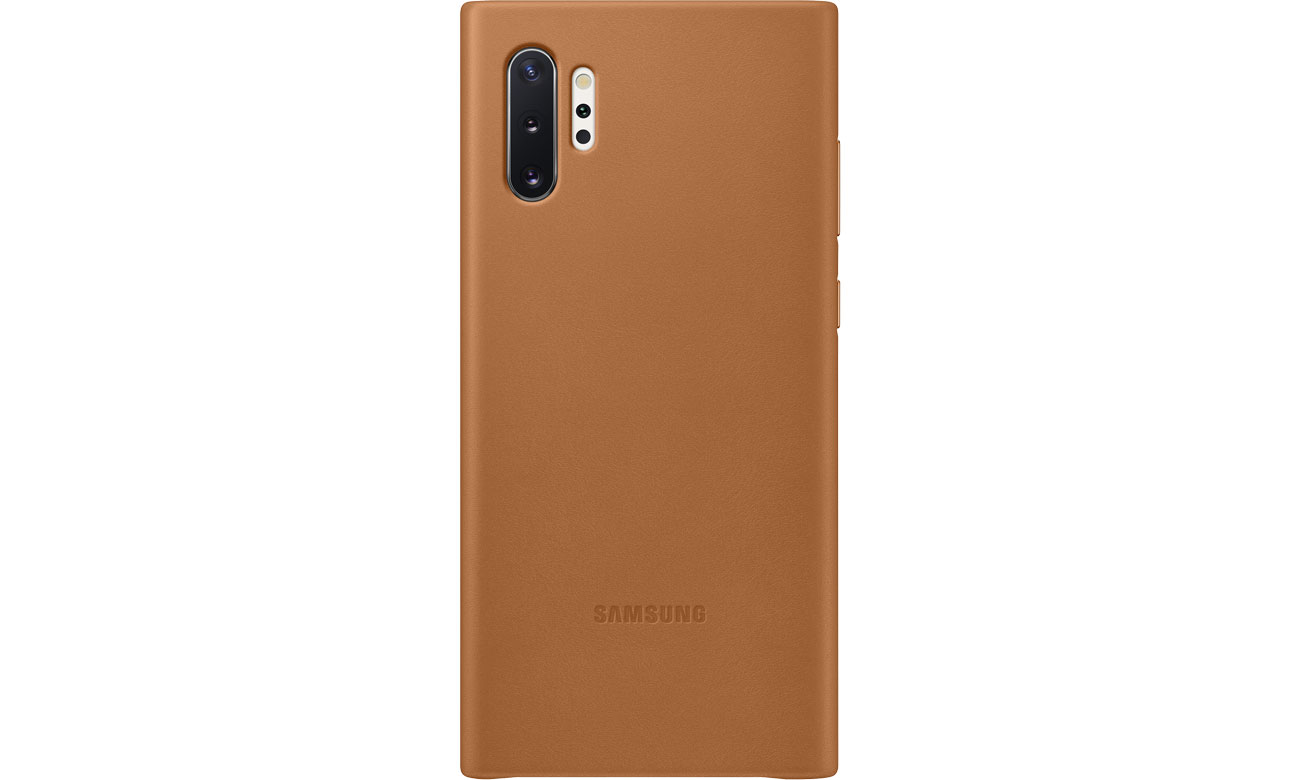 Samsung Leather Cover do Galaxy Note 10+ Camel