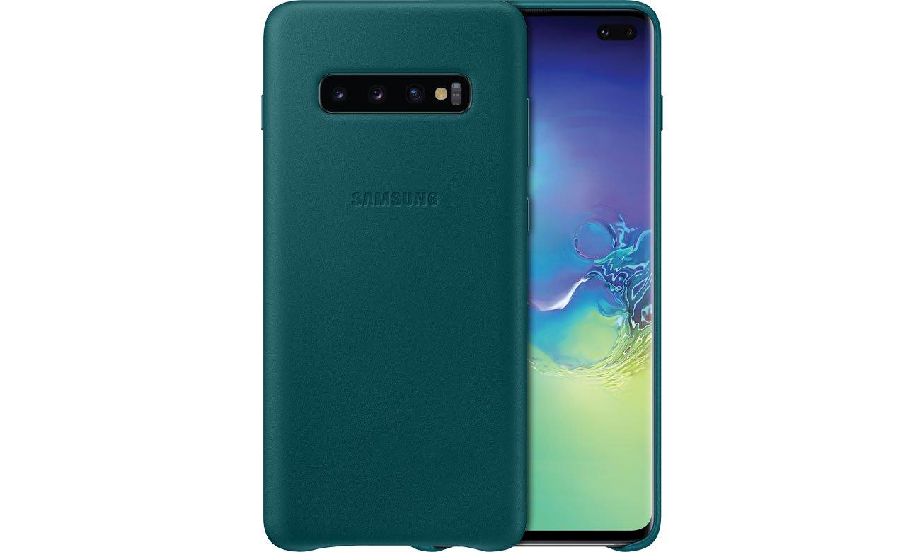 Etui Samsung Leather Cover do Galaxy S10+ zielone