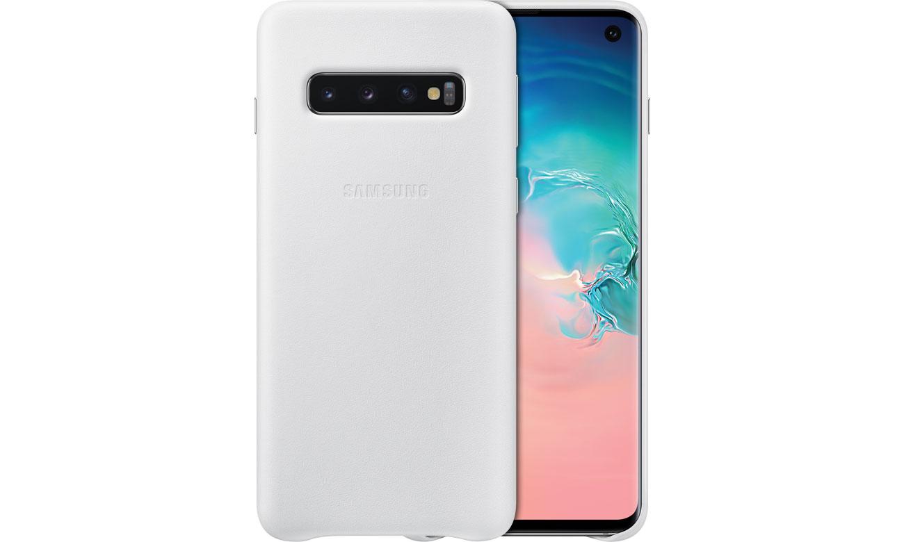 Etui Samsung Leather Cover do Galaxy S10 białe