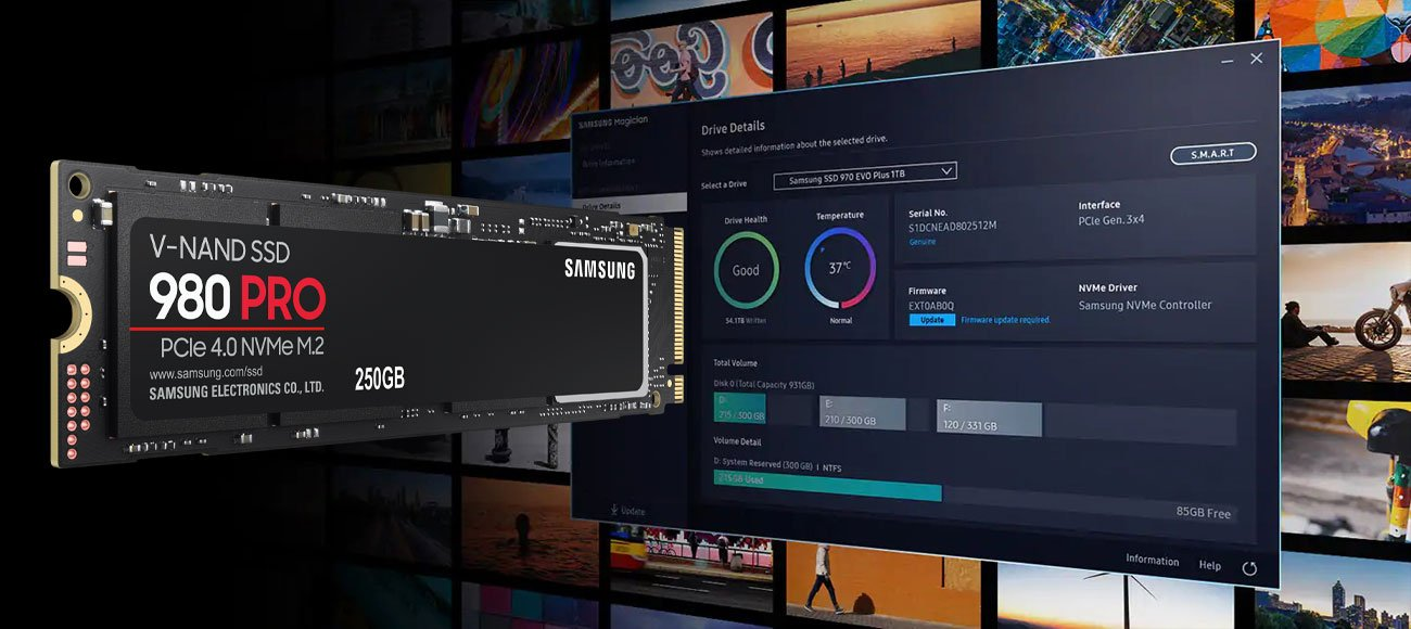 Samsung 980 PRO - Oprogramowanie Magician