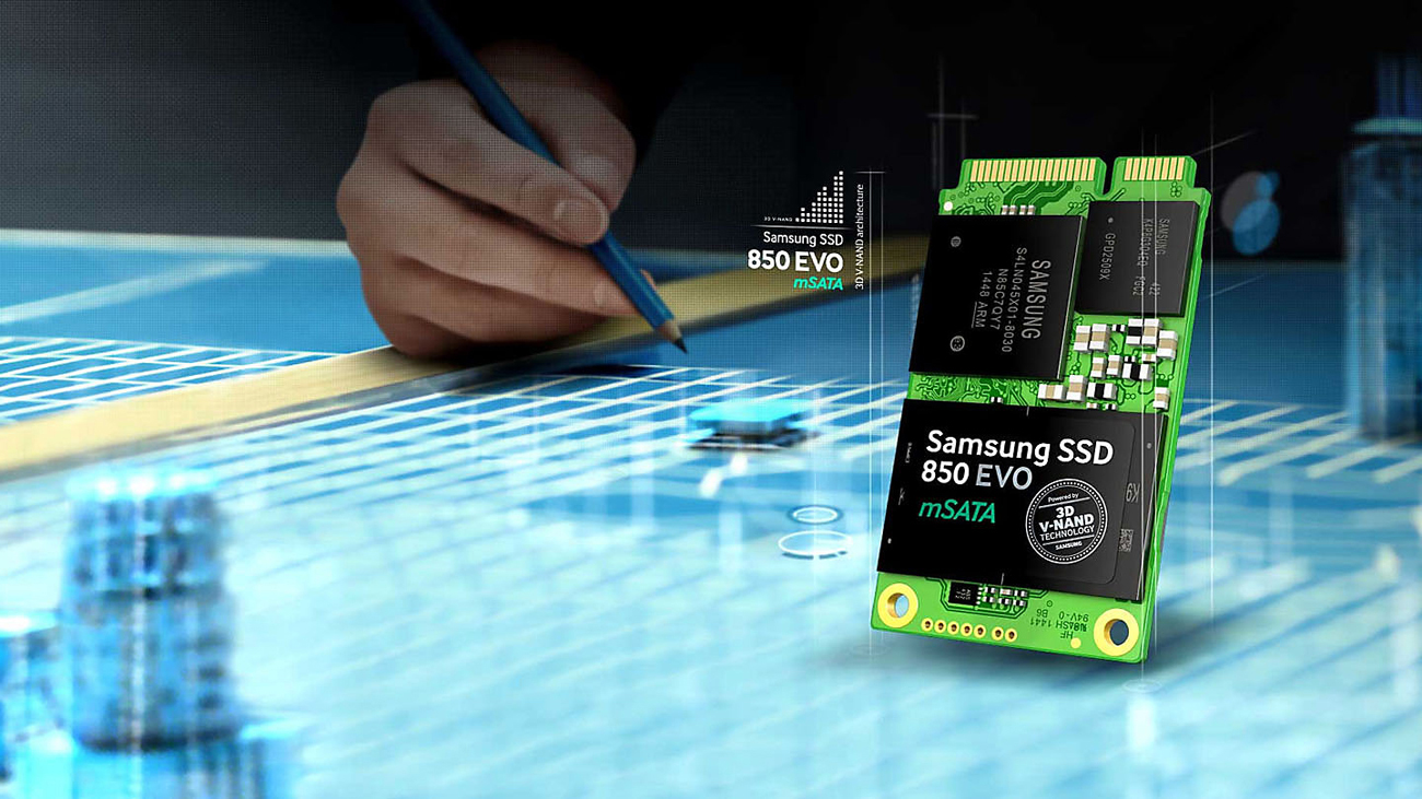 Dysk SSD Samsung 1TB mSATA SSD 850 EVO MZ-M5E1T0BW