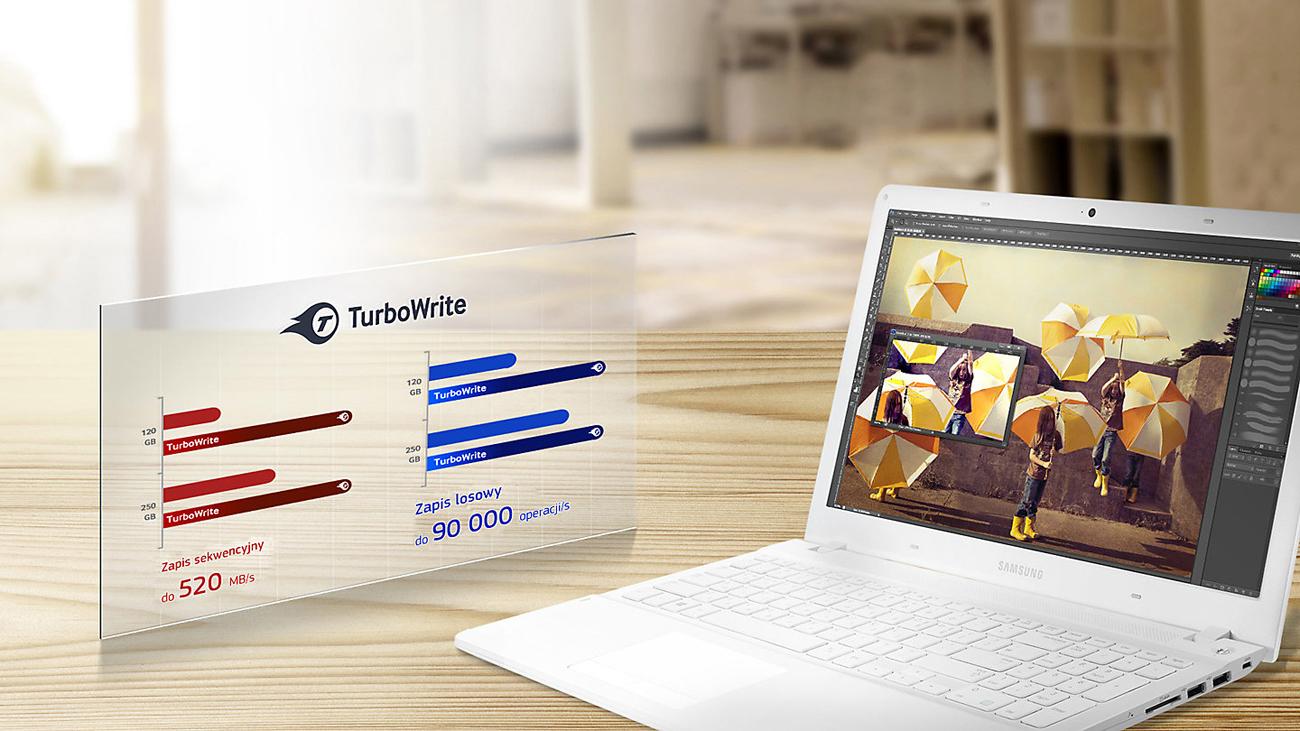 SSD Samsung mSATA 850 EVO Technologia TurboWrite