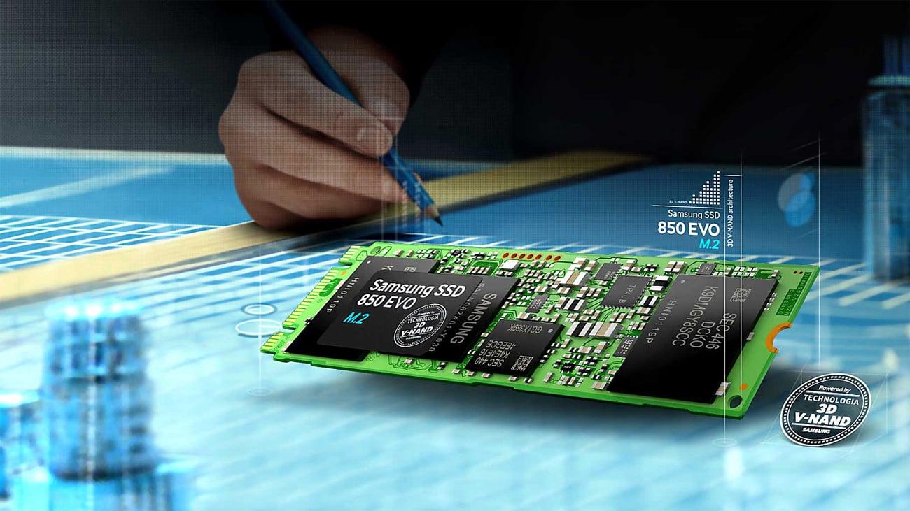 Samsung 1TB M.2 SSD Seria 850 EVO Technologia 3D V-NAND