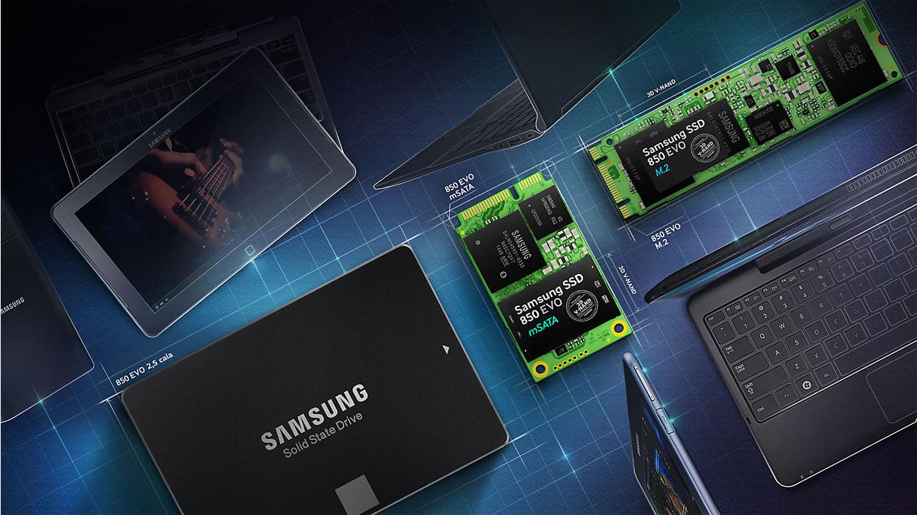 Samsung 1TB M.2 SSD Seria 850 EVO Dopasowanie Obudowy