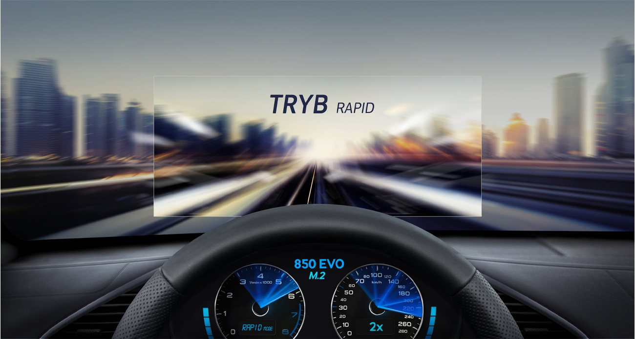 850 EVO tryb RAPID