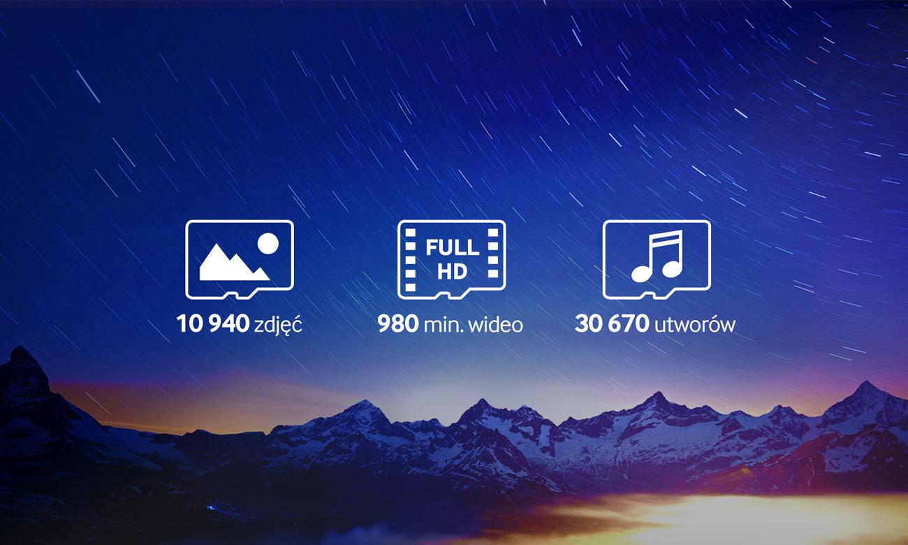 MicroSDXC Evo duża pojemność