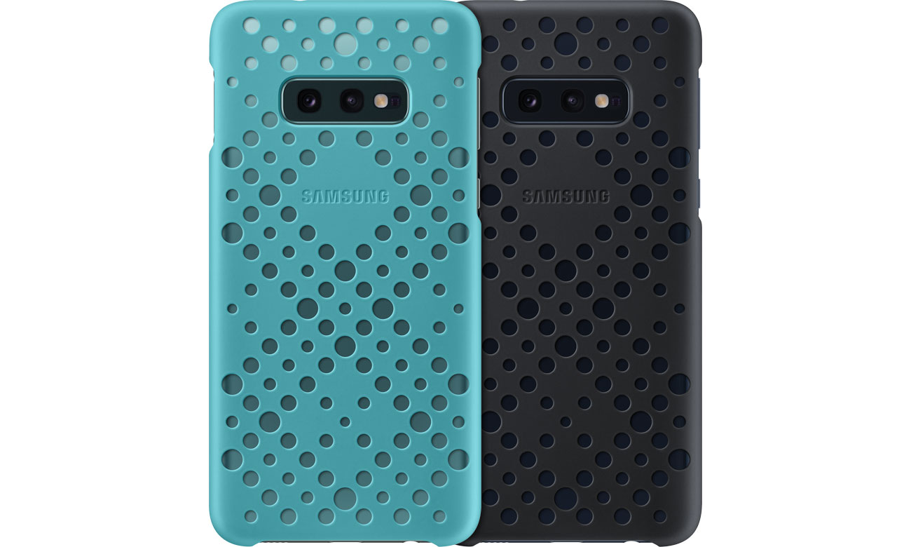 Etui Samsung Pattern Cover do Galaxy S10e czarne zielone