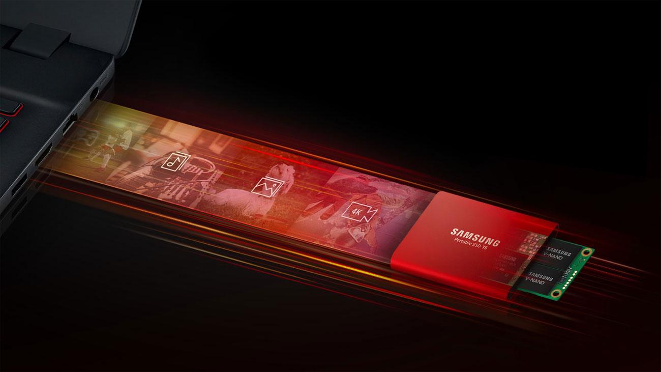 Samsung Portable T5 Wydajność
