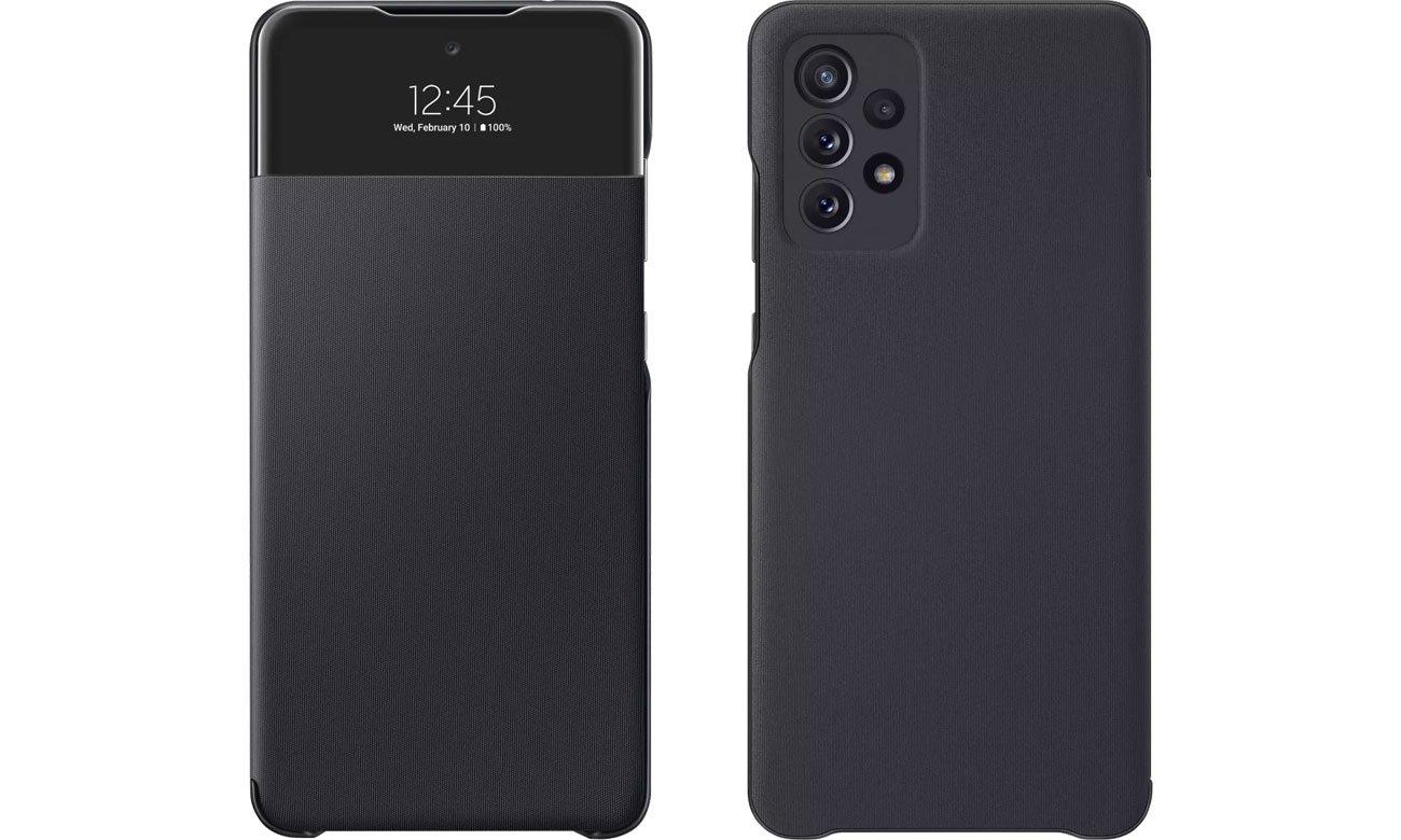Etui Samsung S View Wallet Cover do Galaxy A72 czarny