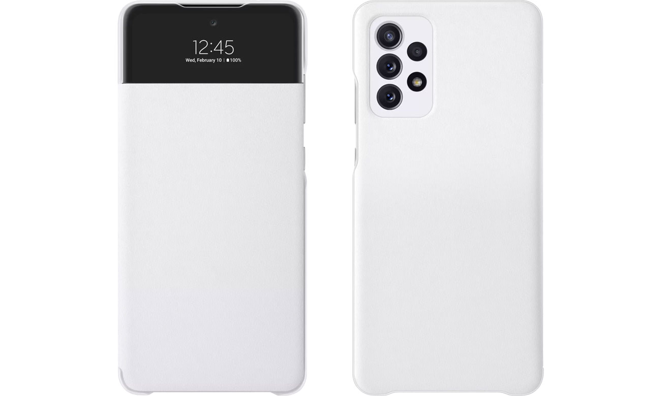 Etui Samsung S View Wallet Cover do Galaxy A72 biały