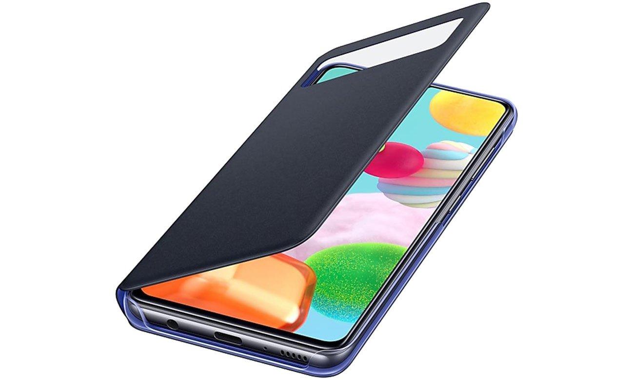 Samsung S View Wallet Cover do Galaxy A41 czarny EF-EA415PBEGEU