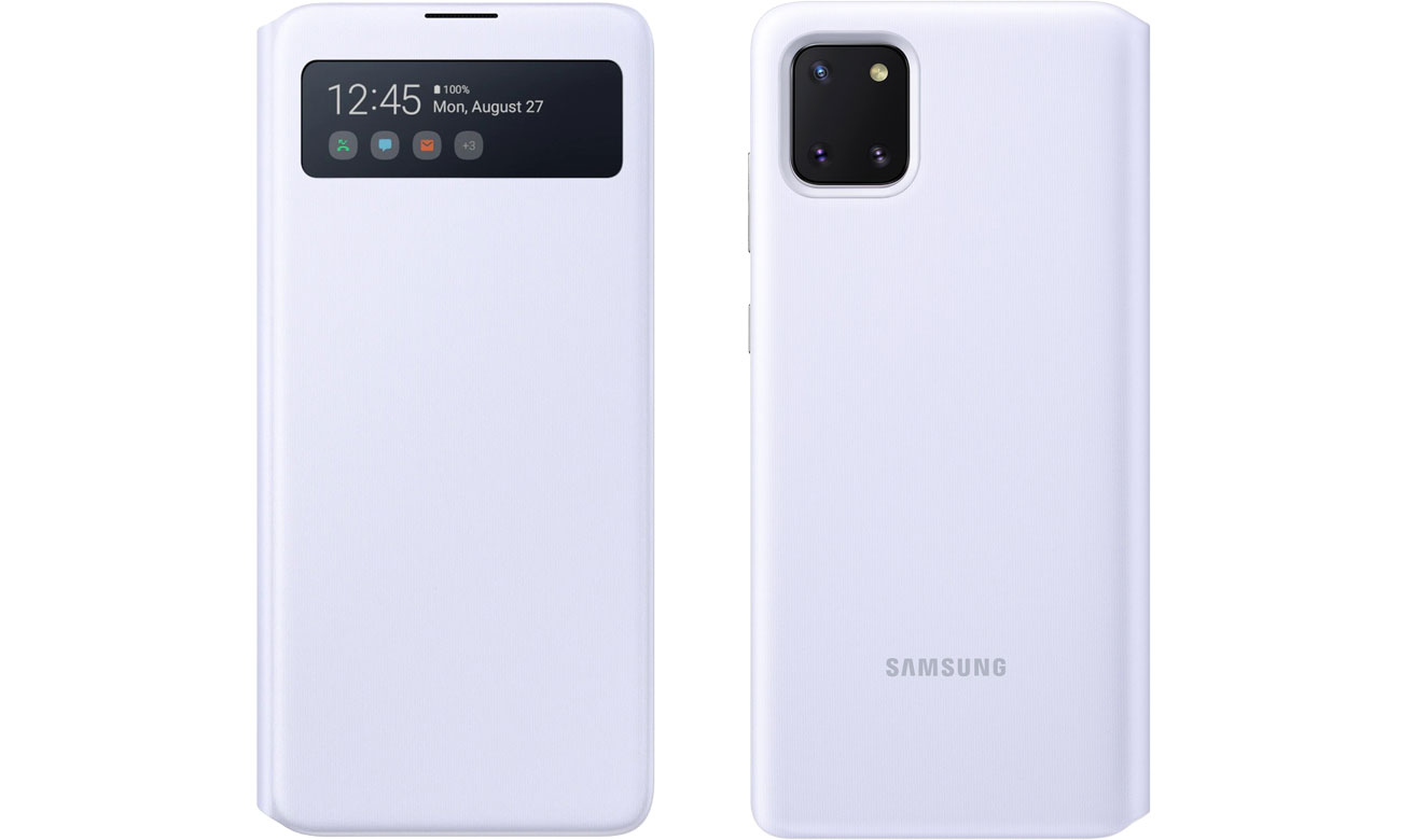 Etui Samsung S View Wallet Cover do Galaxy Note 10 Lite biały