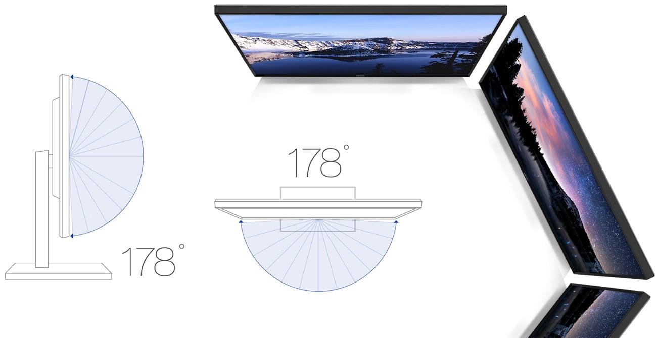 Samsung S24E65KBWV czysty obraz