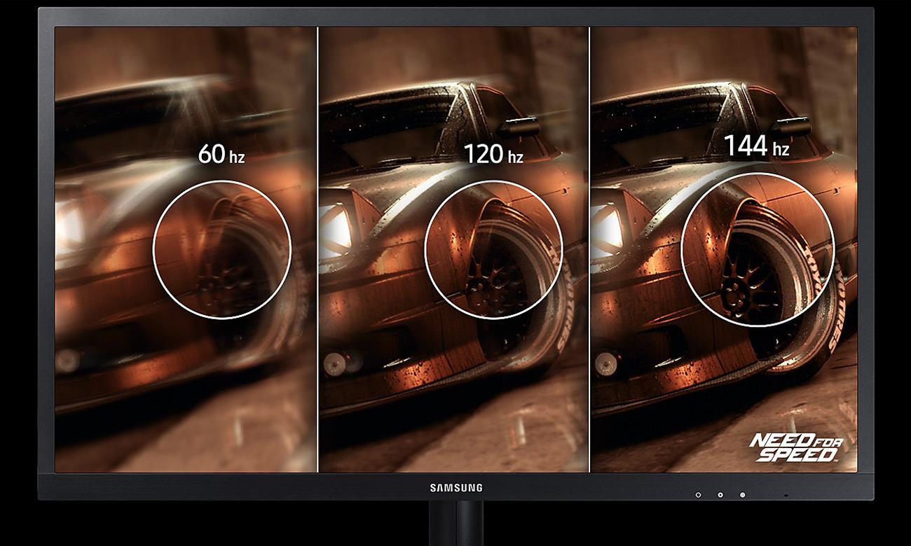 Samsung S25HG50FQUX Częstotliwośc Odświeżania 144 Hz