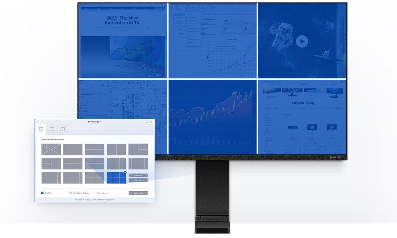 Monitor Samsung S27R750QEUX Wielozadaniowość