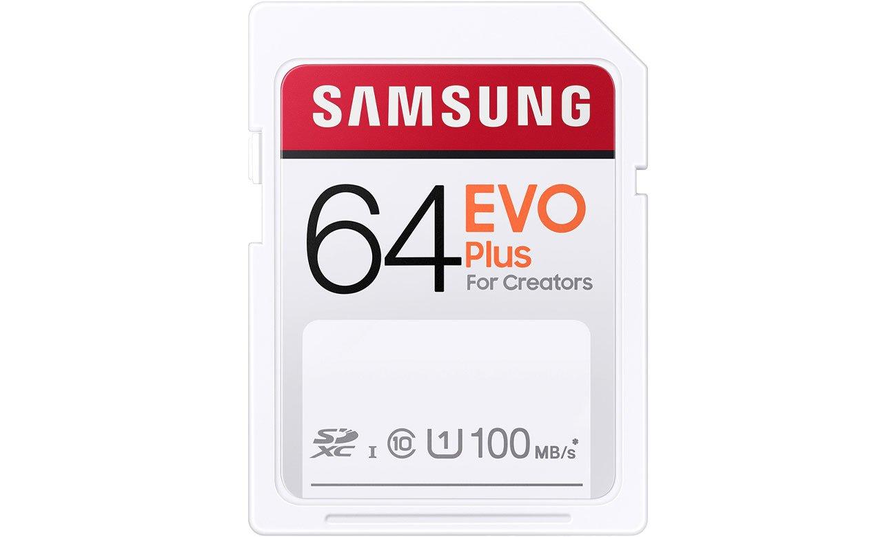 Karta pamięci SD Samsung 64GB SDXC EVO Plus 100MB/s MB-SC64H/EU
