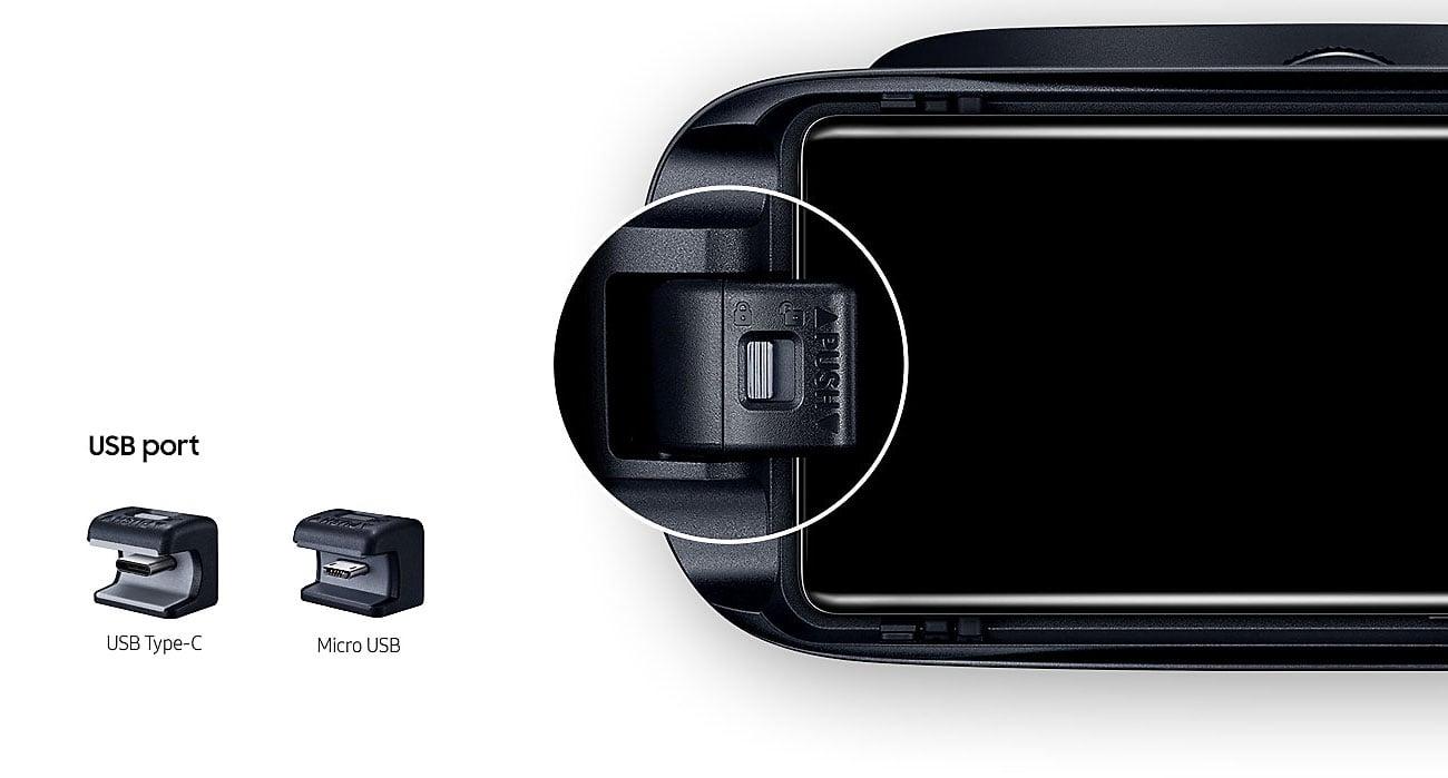 Samsung Gear VR 2017 Kompatybilność USB-C microUSB