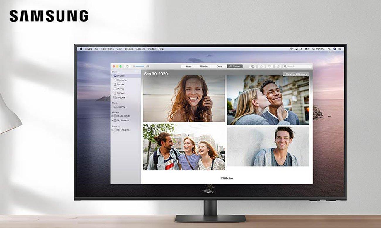 Monitor LED Samsung Smart Monitor S43AM700UUX