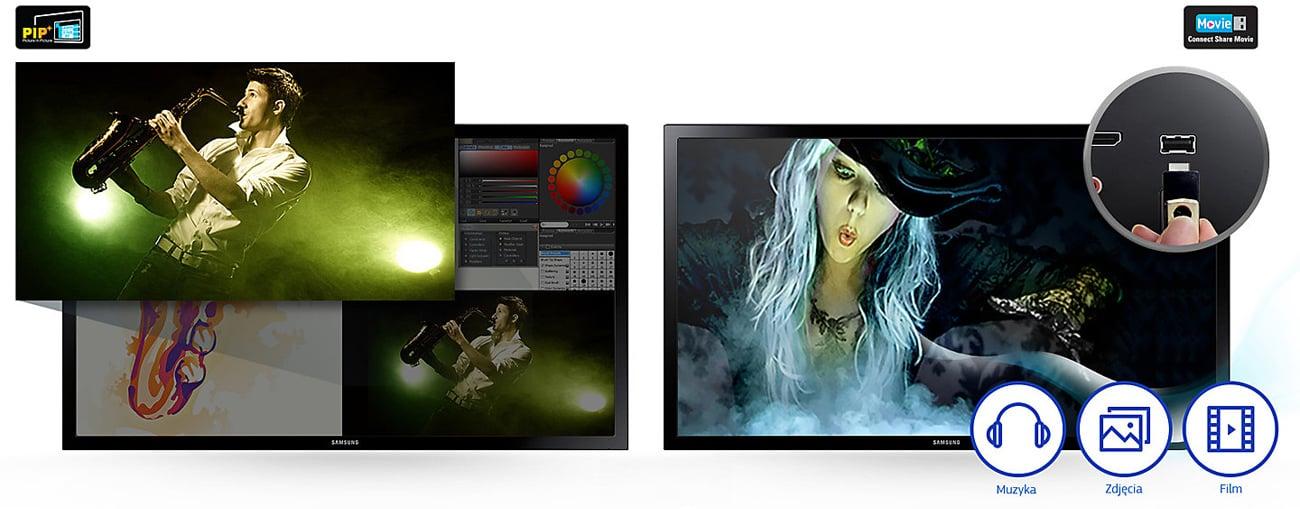 Samsung T22E390EW TV Picture-In-Picture